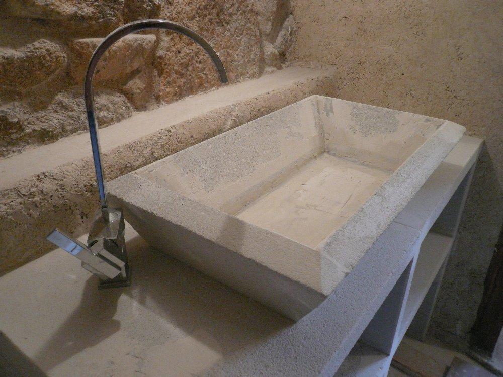 Populaire Création lavabo en béton ciré GO28